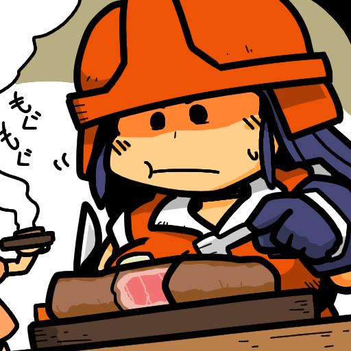 Shin Megami Tensei デモノイド デミナンディ ステーキ beef steak ファクトリーの労働者の女