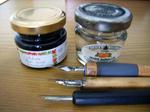 墨汁とペン