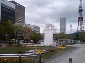 大通り公園、テレビ塔と噴水