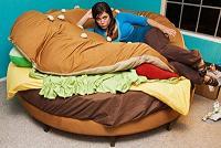ハンバーガーのベッド
