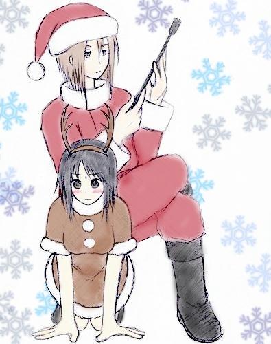 クリスマス蓮紅