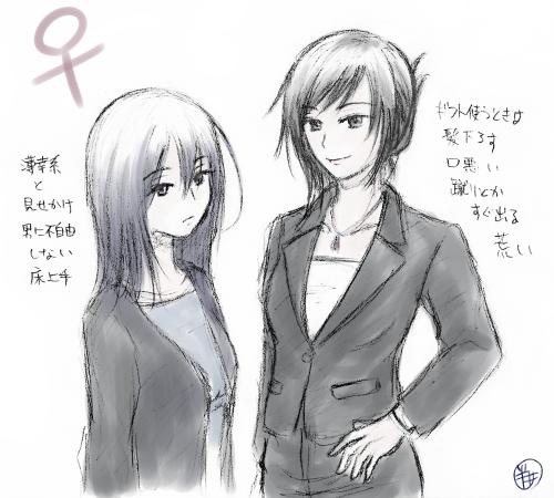 平田と戸谷(女体化注意)
