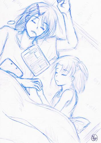夏のお昼寝in和室