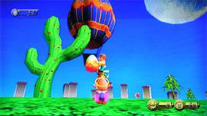 サボテンと気球