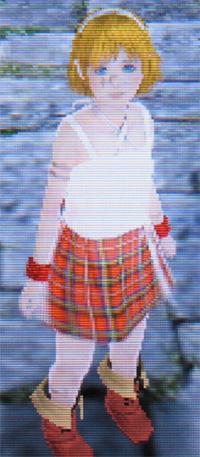ラビ子 タータンチェック衣装
