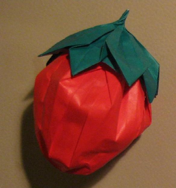 ハート 折り紙:折り紙 いちご 折り方-divulgando.net