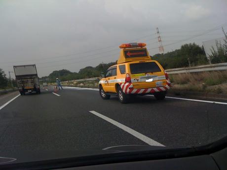 路上障害物