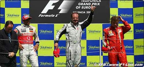 ヨーロッパGP、バリチェロ優勝