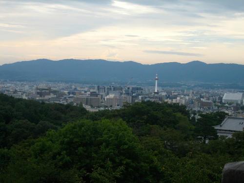 清水寺から見た京都市街
