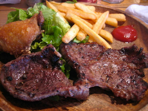 肉屋のステーキプレート