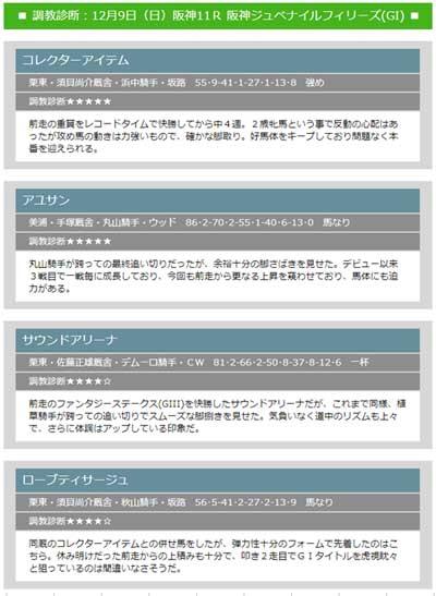 大川慶次郎の無料情報阪神JF