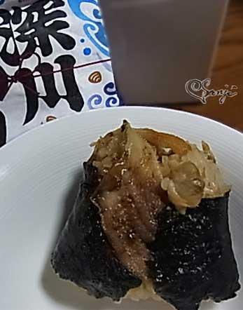 東京の上手い!深川めしの穴子とアサリ ローソンおにぎり屋