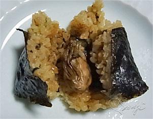 広島のうまい!牡蠣めしおにぎりの中身の牡蠣
