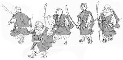 行列する僧兵