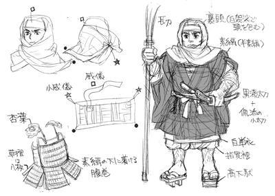 僧兵装束 裹頭、素絹、腹巻