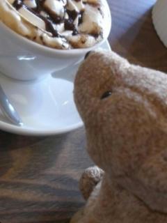 カフェでテディベア01