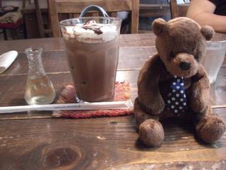 アイスカフェモカとテディベア