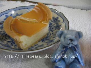 チーズケーキとテディベア