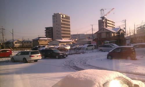 まだ雪景色