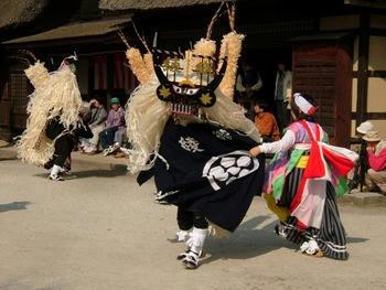 11月5日綾織しし踊り