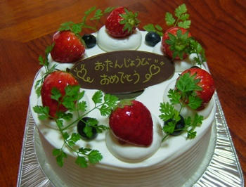 ばぁばのケーキ♪