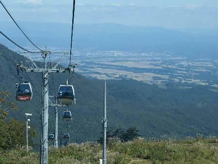 10月6日夏油高原ゴンドラからの景色