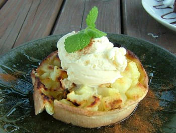 10月6日リンゴとアイスクリームのタルト