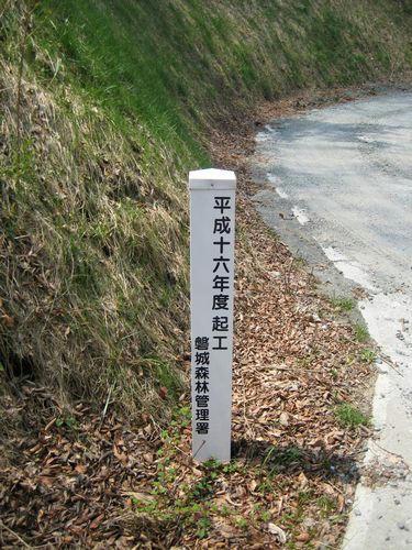 浅見川林道分岐