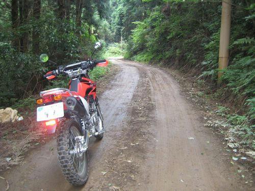 加波山神社への道