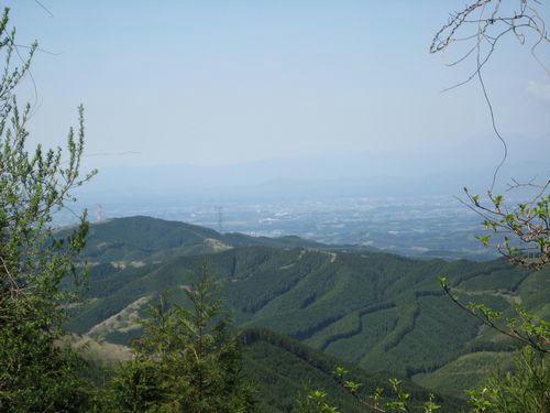 八溝山の眺め