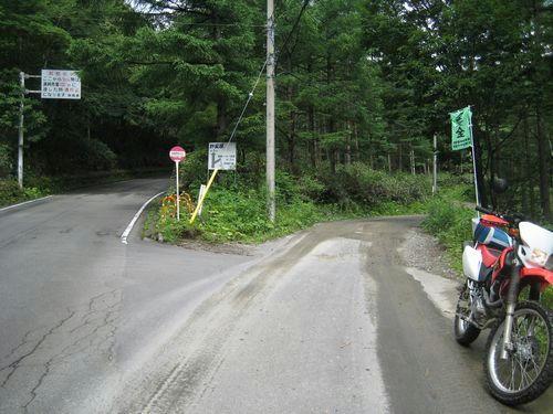 万沢林道入口