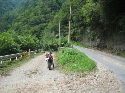 上野大滝林道分岐