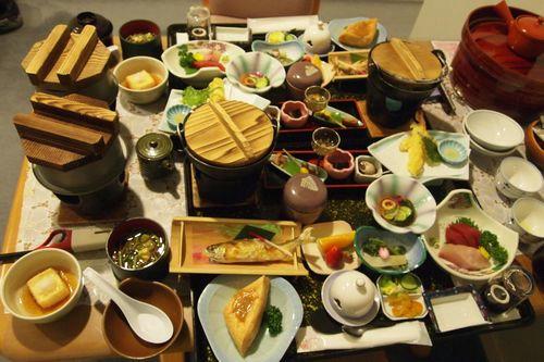 若松屋での夕食