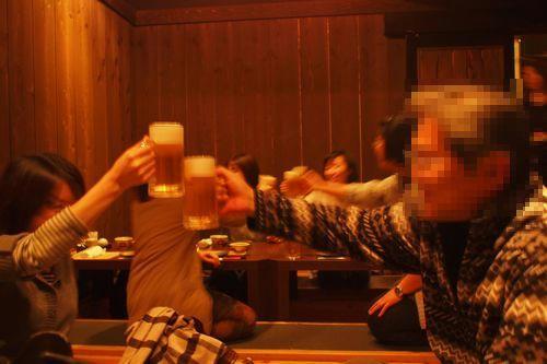 居酒屋にて