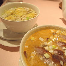 ワンタン麺とタンタンメン
