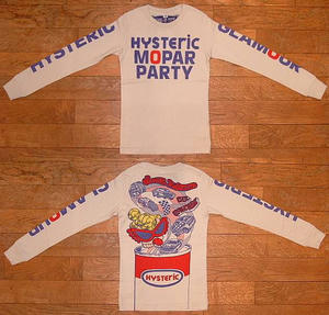HYSTERIC MOPAR PARTY長袖Tシャツ Dirty White