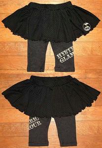 HYSTERICスカートスパッツ(Baby) Black×Silver