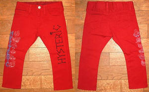 MINI&ドクロHYSTERICロングパンツ(Baby) Red