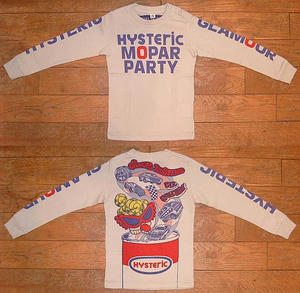 HYSTERIC MOPAR PARTY長袖Tシャツ(Baby) Dirty White