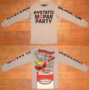 HYSTERIC MOPAR PARTY長袖Tシャツ(Baby) Gray