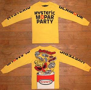 HYSTERIC MOPAR PARTY長袖Tシャツ(Baby) Yellow