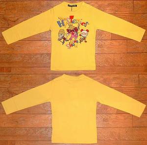 The HYSTERIC'S長袖Tシャツ(Baby) Yellow