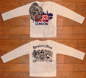 HYSTERIC LONDON長袖リバーシブルTシャツ(Baby)① Off White