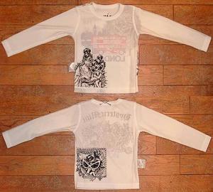 HYSTERIC LONDON長袖リバーシブルTシャツ(Baby)② Off White