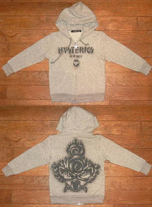 HYSTERIC ARMY長袖パーカー(Baby) Top Gray