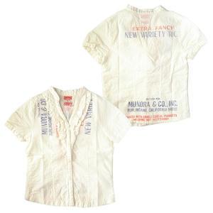 デニム&ダンガリー シーチングリメイク半袖シャツ