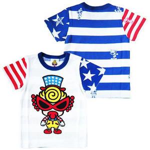 ヒステリックミニ キャプテンミニ星条旗Tシャツ