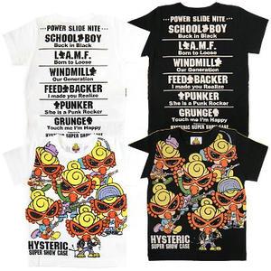 ヒステリックミニ ヒステリックショーケース総柄Tシャツ