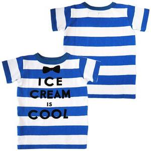 デニムアンドダンガリー ワイドボーダーテンジクアイスクリームTシャツ