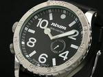 """【NIXONニクソン】""""51-30 PU""""300m防水メンズ腕時計A058-000BLACK"""